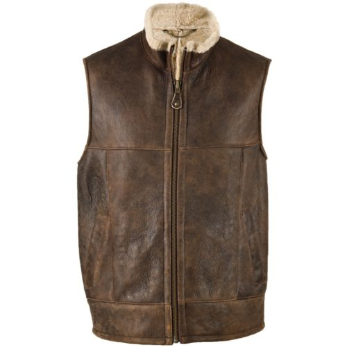 Harvey - Sheepskin Gilet with Nappa Finish