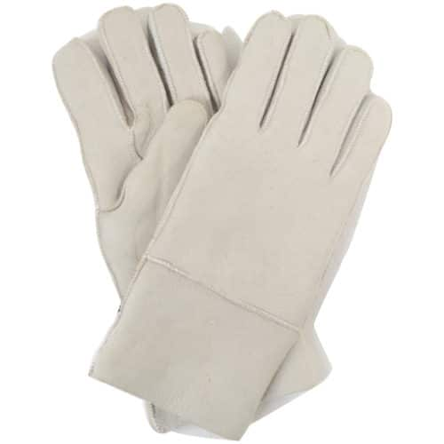 Annie - Womens Sheepskin Gloves - Light Grey