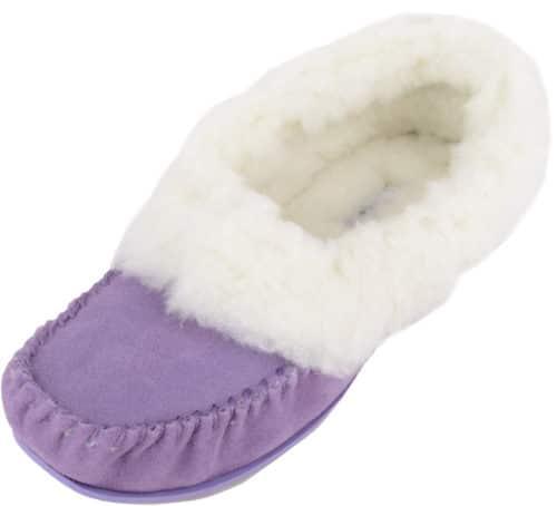 Snugrugs Layla - Luxury Wool Lined Slipper - Lilac