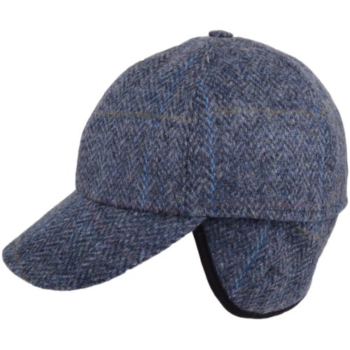 Tweed Baseball Cap - Blue