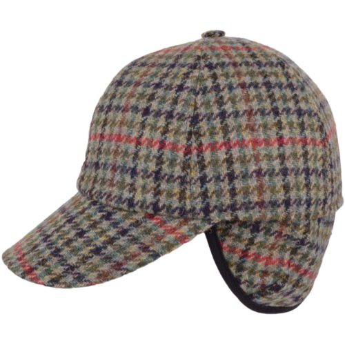 Tweed Baseball Cap - Beige Red