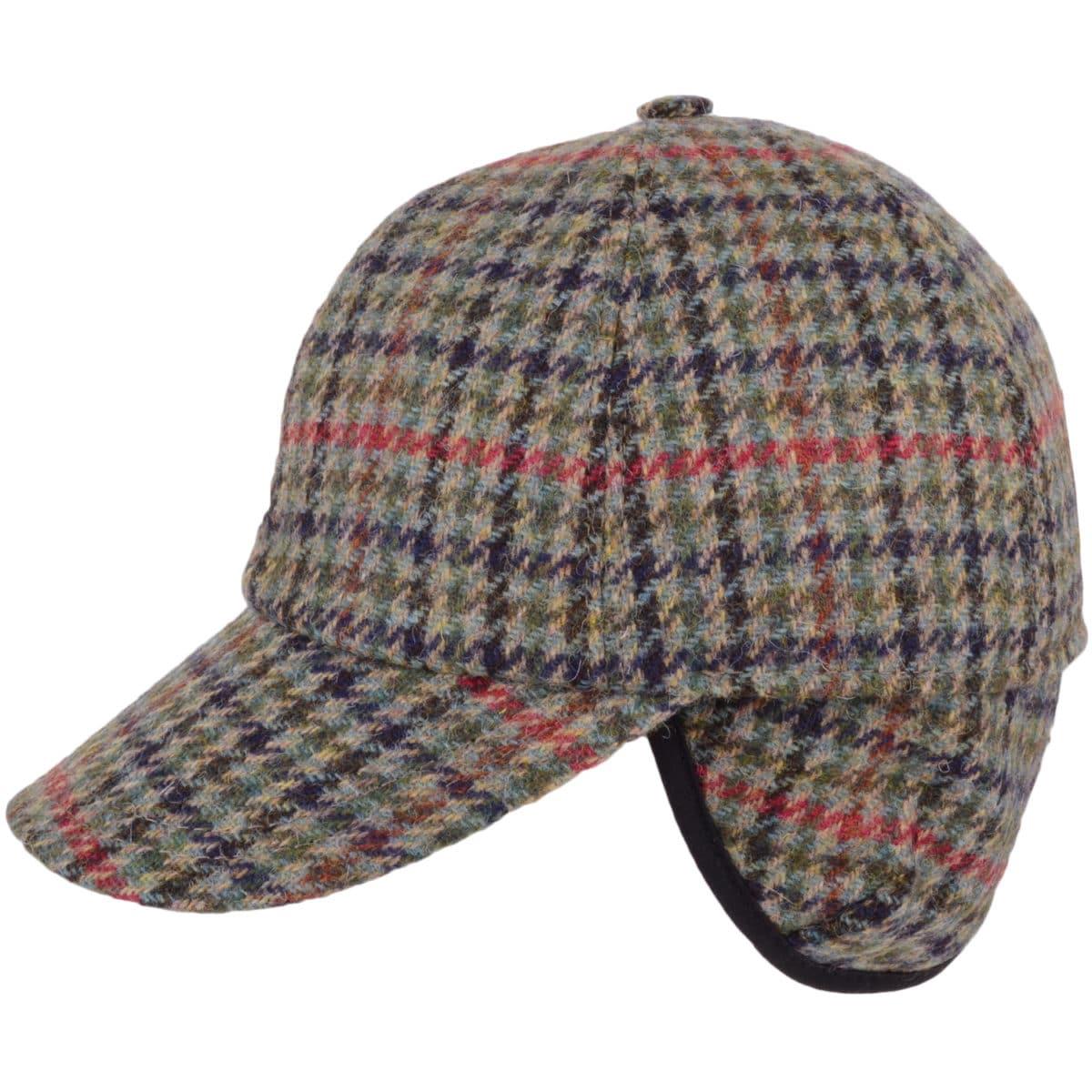Tweed Baseball Cap - Beige Red
