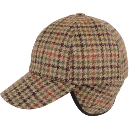 Tweed Baseball Cap - Brown Check