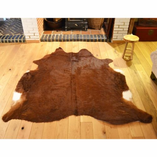 Cowhide Rug 164 | 220 x 190 Brown