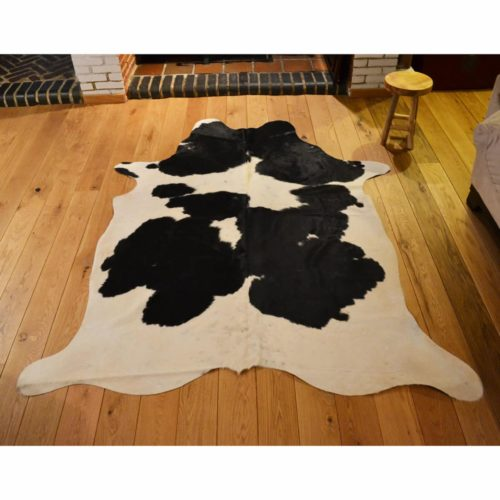Snugrugs Cowhide Rug 166 | 240 x 175 Black and White 166