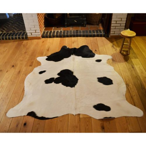 Cowhide Rug 167 | 217 x 180 Black and mostly white