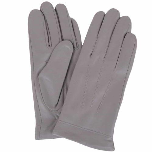 Mavis - Leather Gloves Three Point Stitch - Grey