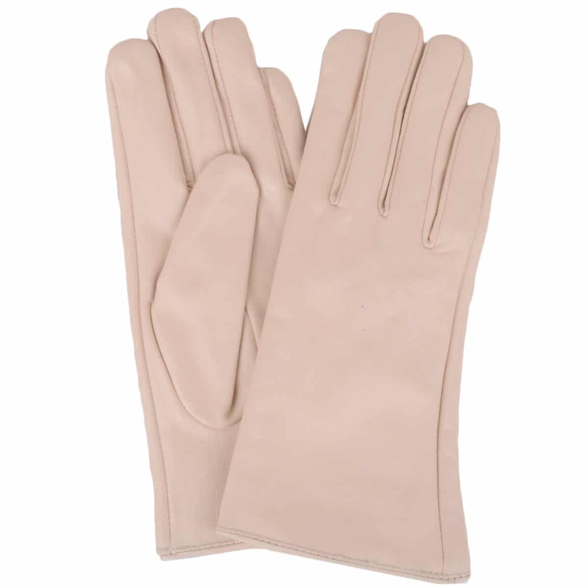 Tamara - Leather Gloves - Beige