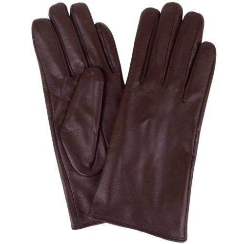 Tamara - Leather Gloves - Brown