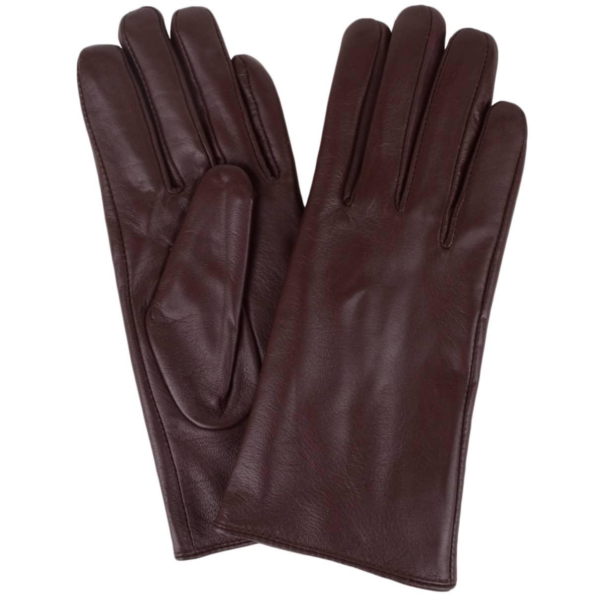 Tamara - Leather Gloves - Brown