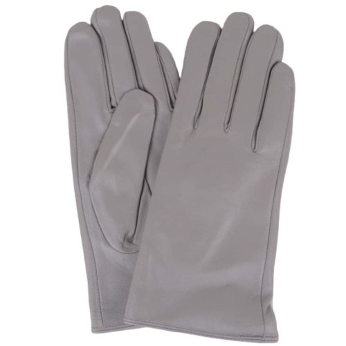 Tamara - Leather Gloves - Grey