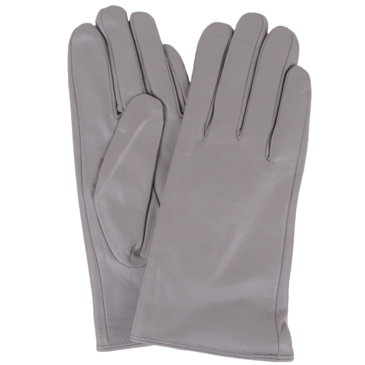 Tamara - Leather Gloves - Grey