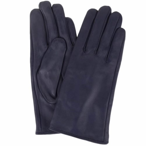 Tamara - Leather Gloves - Navy