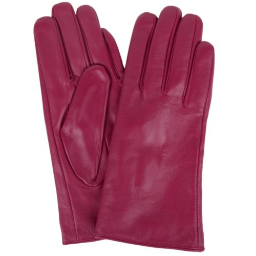 Tamara - Leather Gloves - Pink