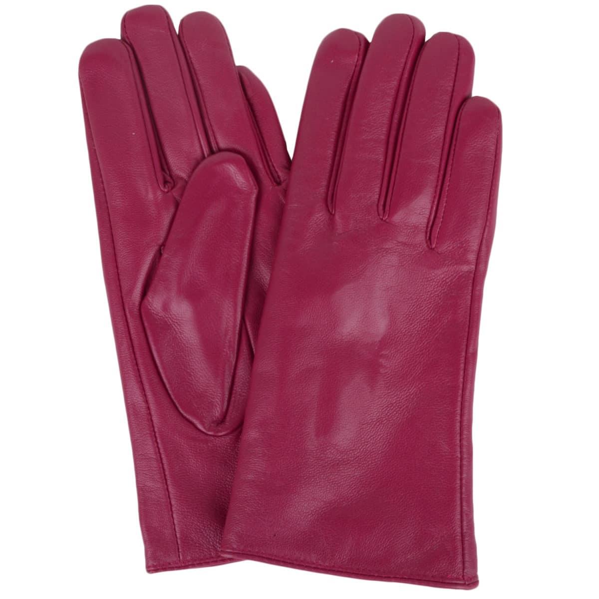 Tamara - Leather Gloves - Pink