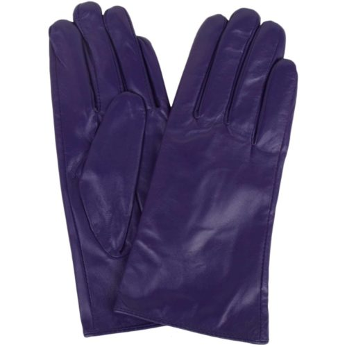 Tamara - Leather Gloves - Purple