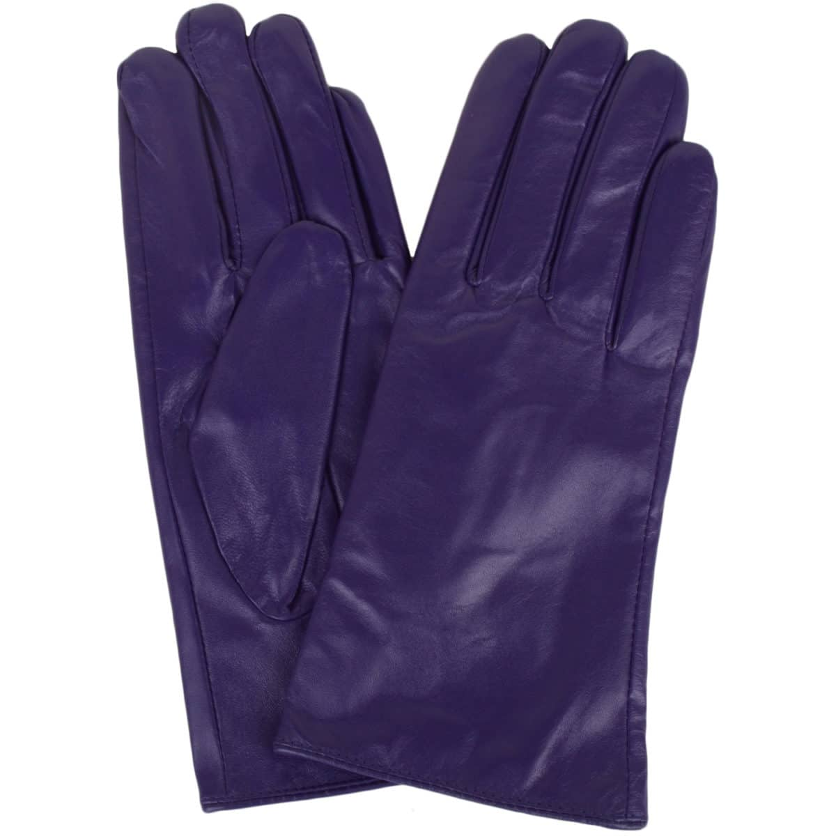 Tamara - Leather Gloves - Purple