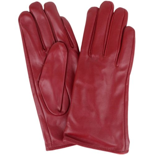 Tamara - Leather Gloves - Red
