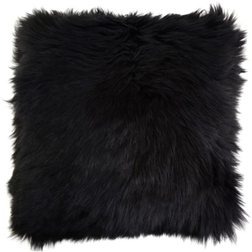 Australian Sheepskin Cushion 40cm x 40xm - Black