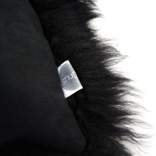 Australian Sheepskin Cushion 40cm x 40xm - Black