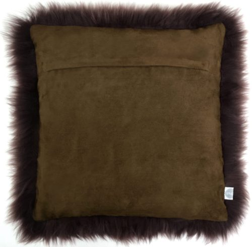 Australian Sheepskin Cushion 40cm x 40xm - Brown