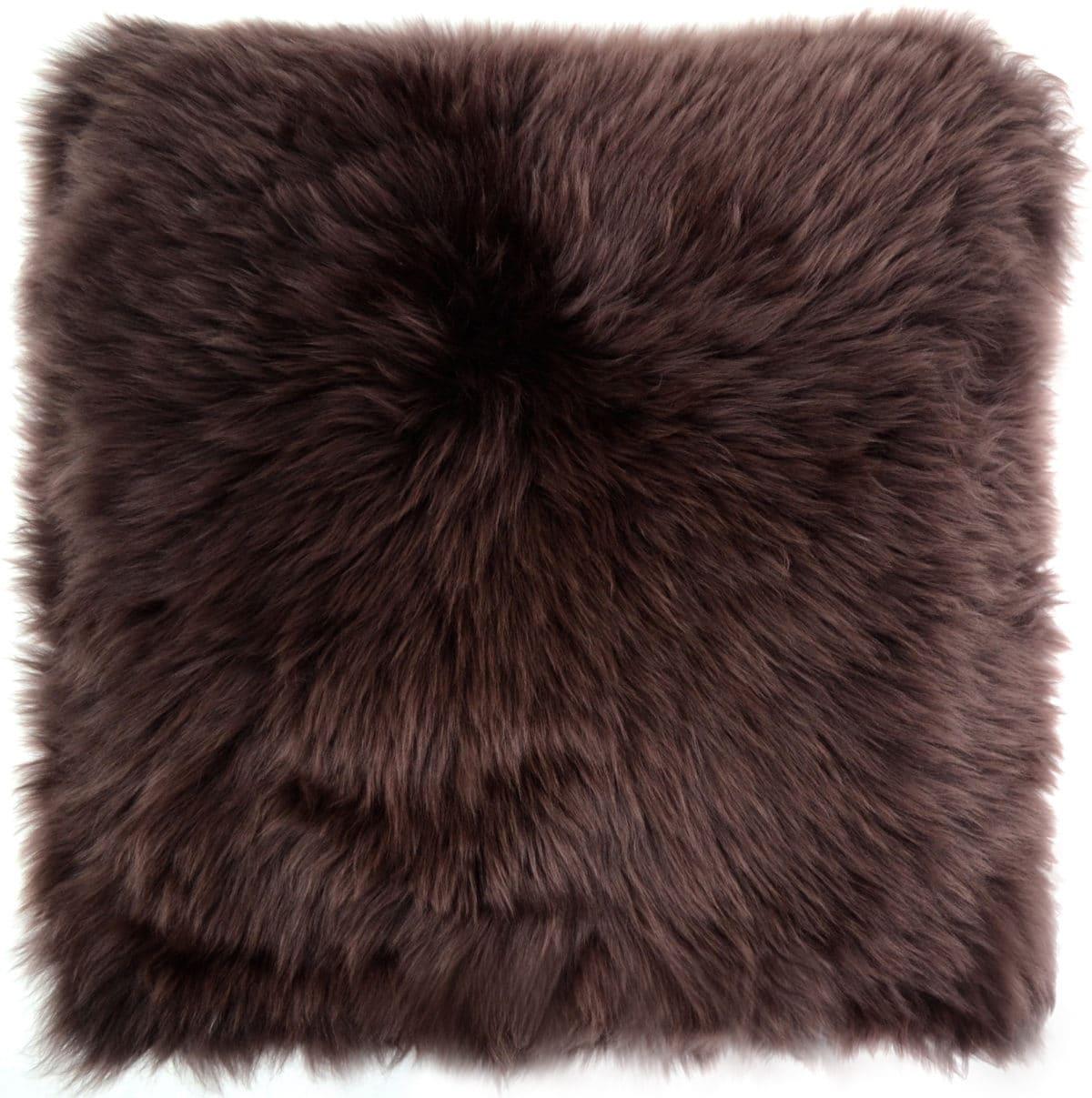 Australian Sheepskin Cushion 40cm x 40xm - Brown