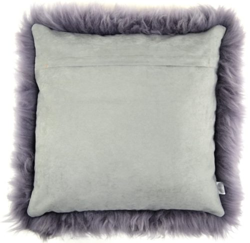 Australian Sheepskin Cushion 40cm x 40xm - Grey
