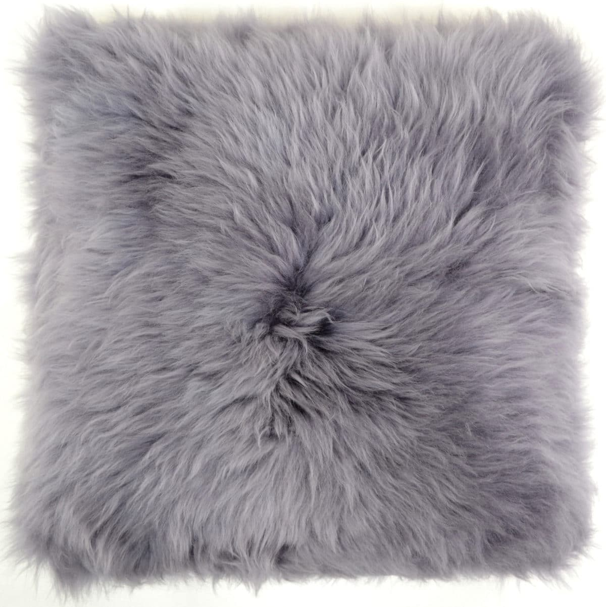 Australian Sheepskin Cushion 40cm x 40xm - Grey