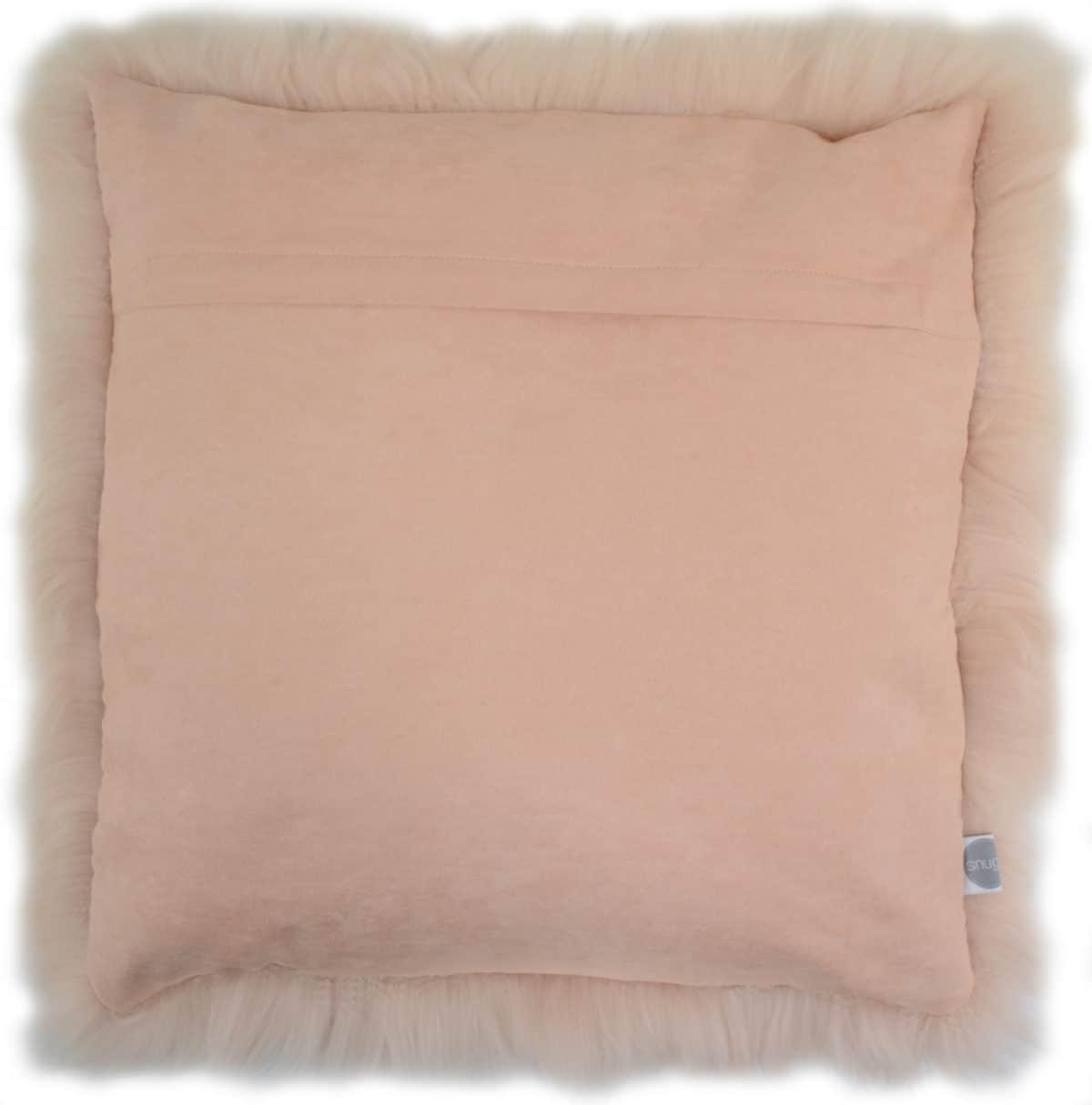 Australian Sheepskin Cushion 40cm x 40xm - Light Pink