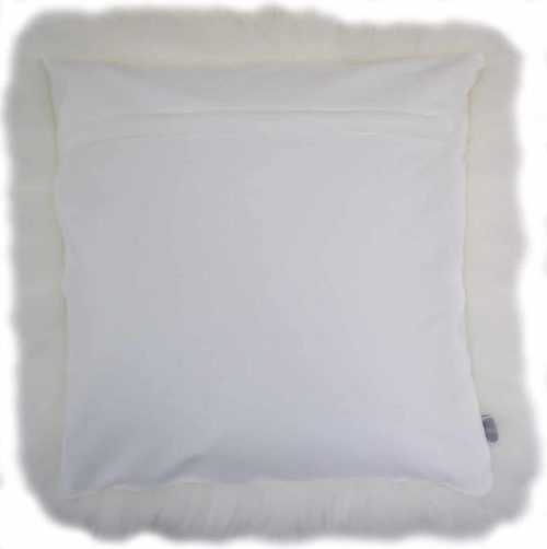 Australian Sheepskin Cushion 40cm x 40xm - White
