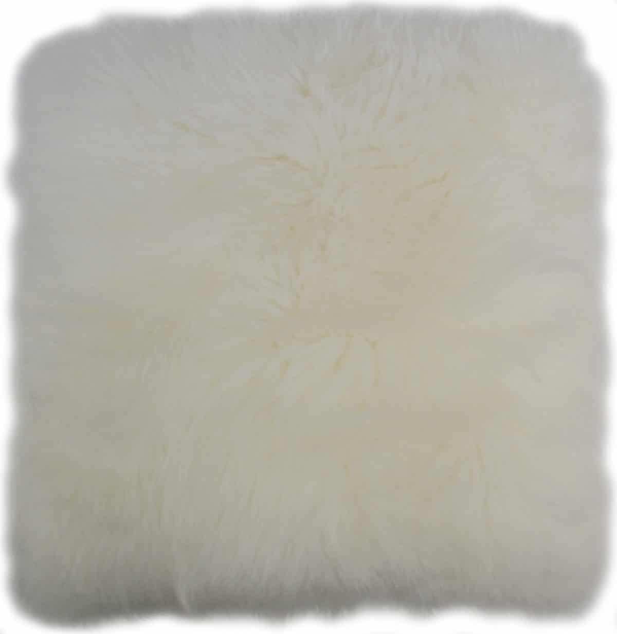 Australian Sheepskin Cushion 40cm x 40xm - White