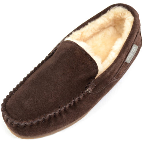 Samuel Mens Sheepskin Slipper Brown