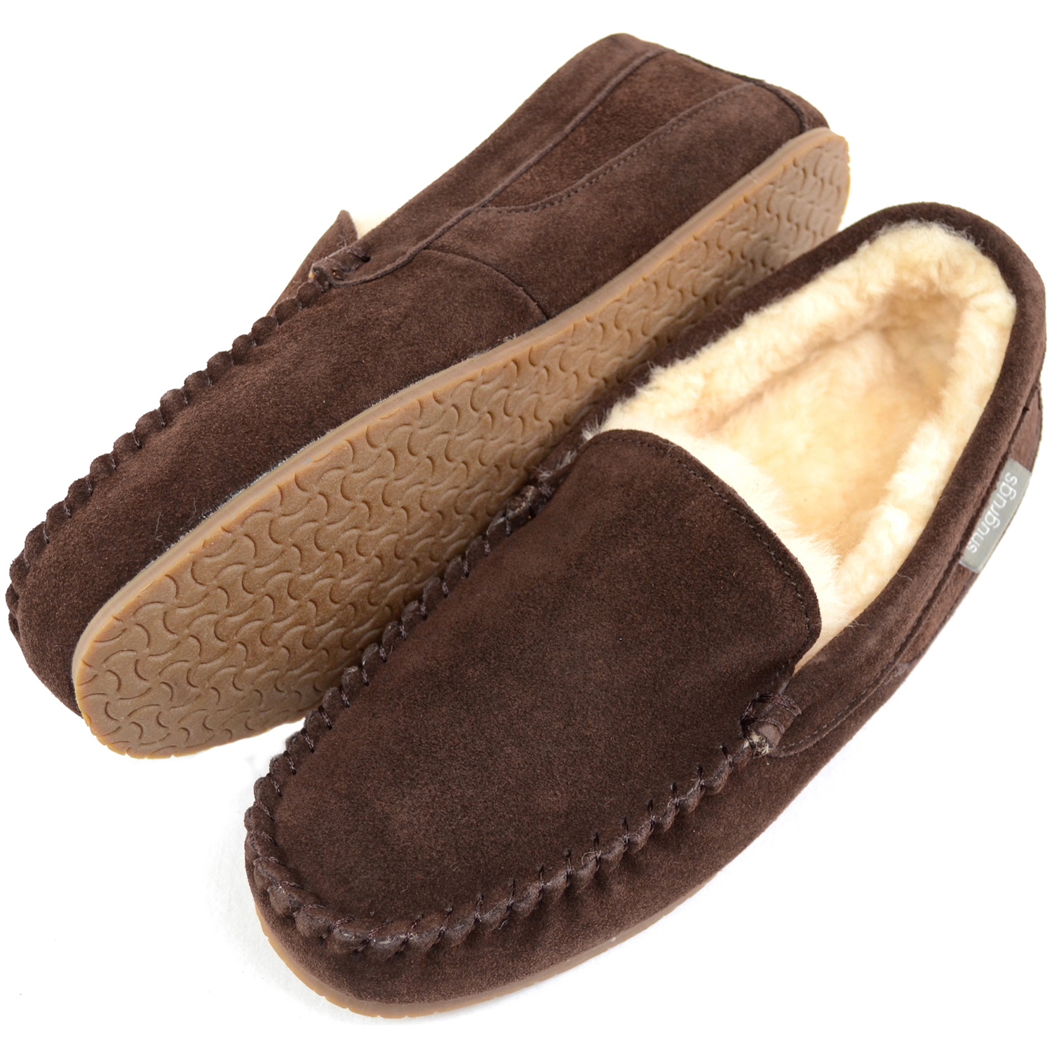 3ceaca54800 Men's Suede Loafer Slipper - Sheepskin lining - Samuel
