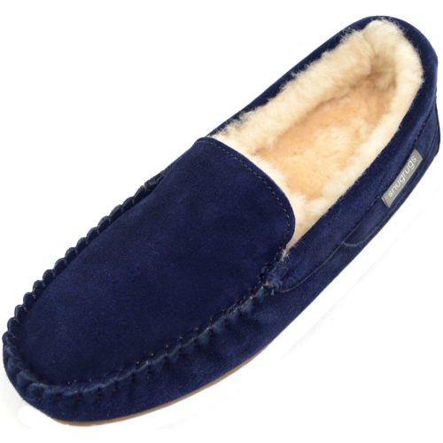 Samuel Mens Sheepskin Slipper Navy