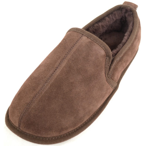 Snugrugs - Mens Sheepskin Slipper Suede Sole - Brown