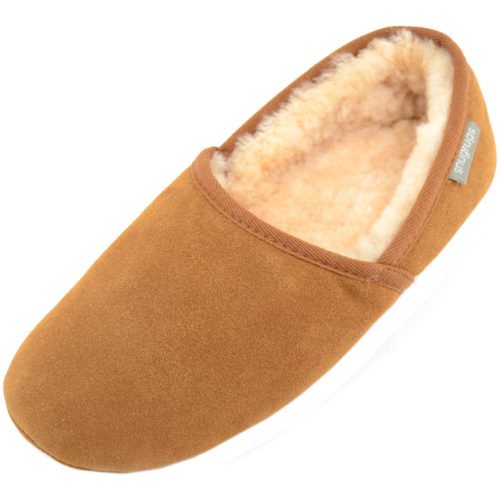 Harry Mens Sheepskin slippers Chestnut