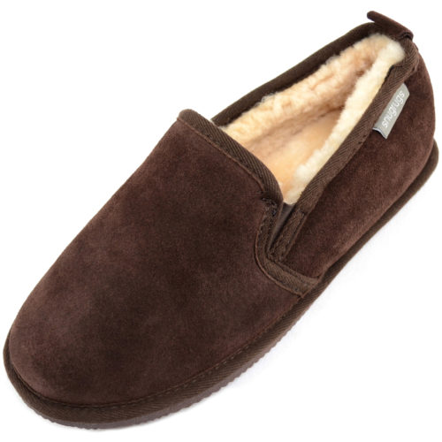 Henley Mens Sheepskin Slippers Brown