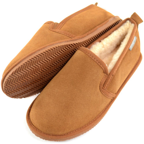 Henley Mens Sheepskin Slippers Chestnut