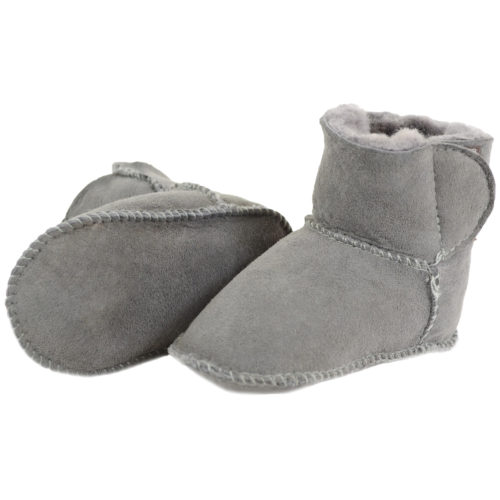 Snugrugs - Baby Full Sheepskin Booties - Grey