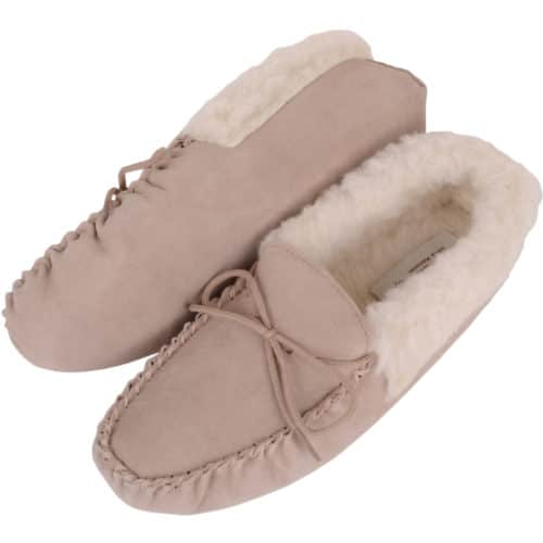 Snugrugs Soft Sole Wool Cuff Moccasin - Camel