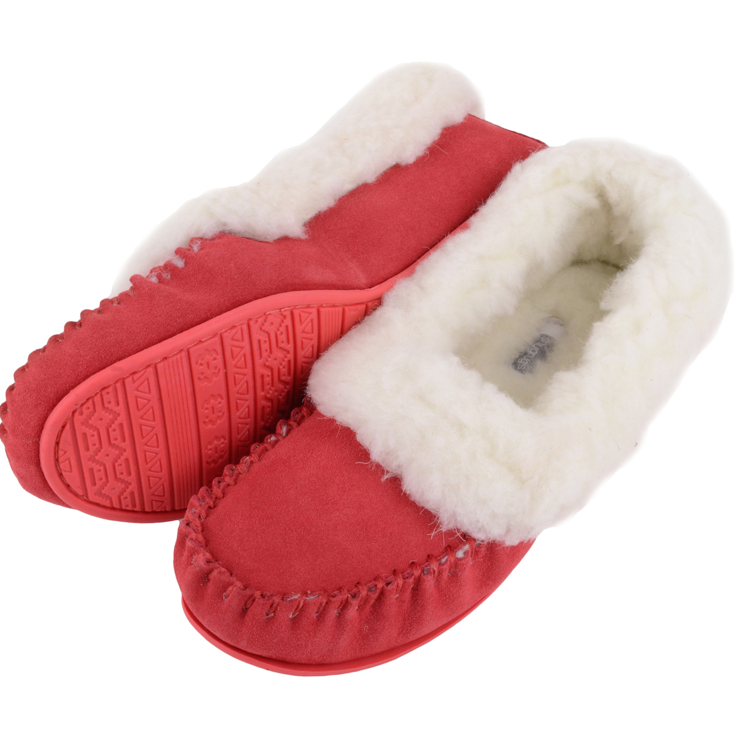 Snugrugs Layla - Luxury Wool Lined Slipper - Crimson