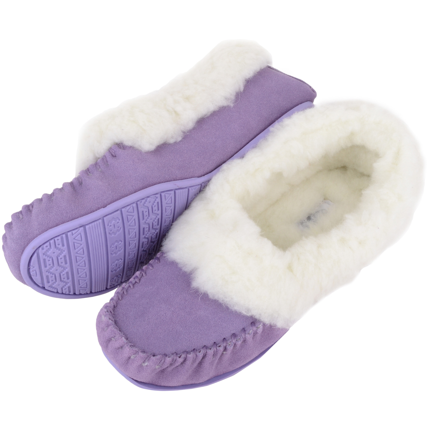 Snugrugs Layla - Luxury Wool Lined Slipper - Lilac