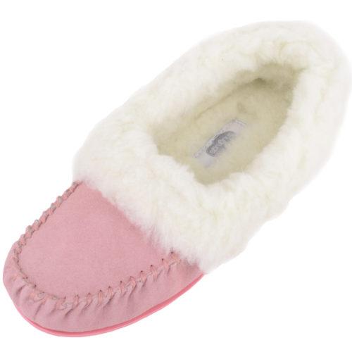 Snugrugs Layla - Luxury Wool Lined Slipper - Pink