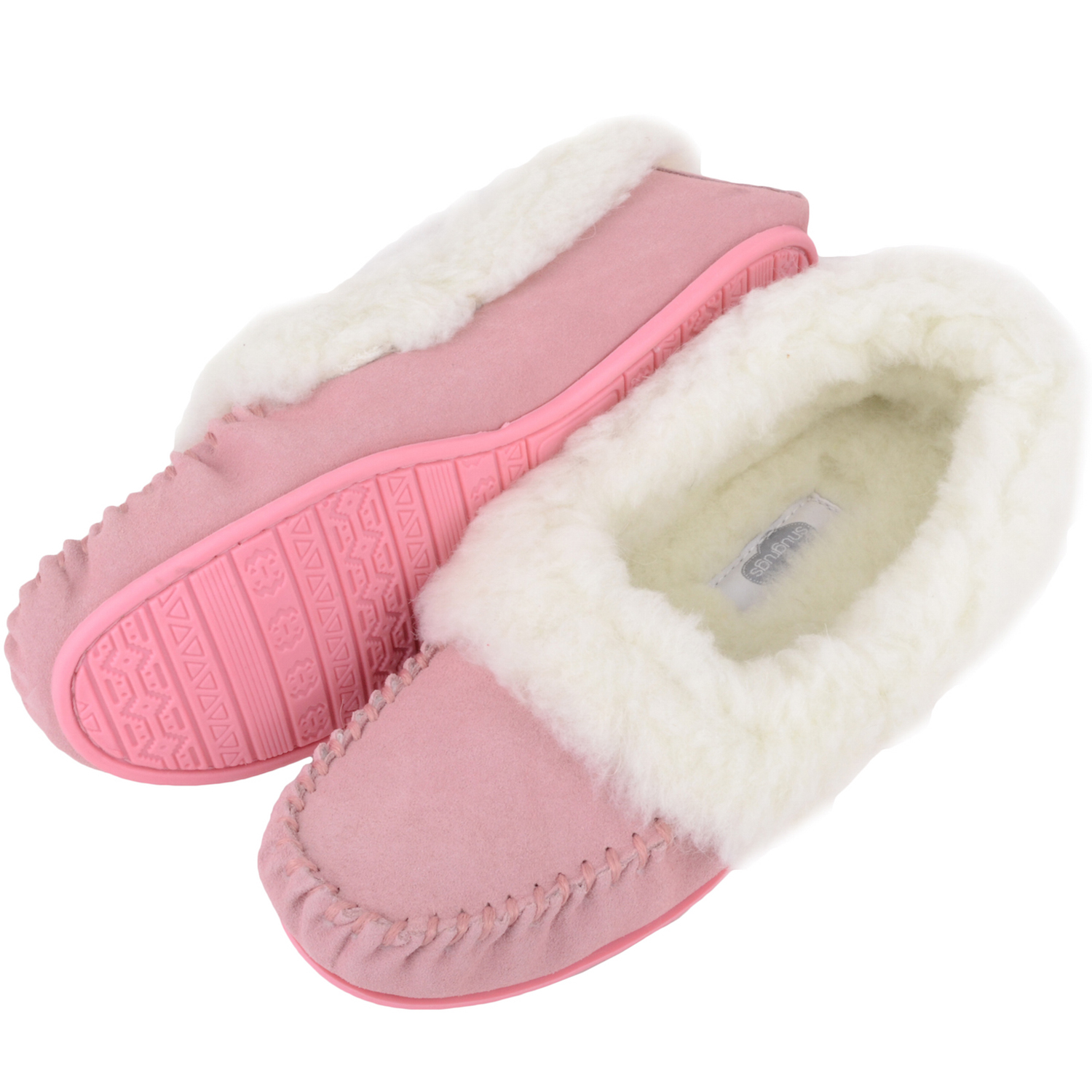 Snugrugs Layla - Luxury Wool Lined Slipper - Pink