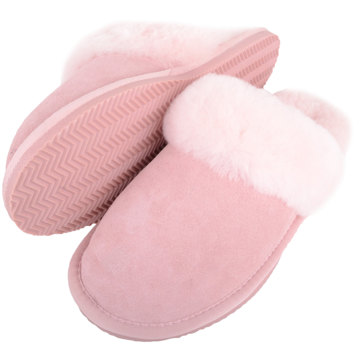 Snugrugs - Ladies Sheepskin Mule Slippers - Pink