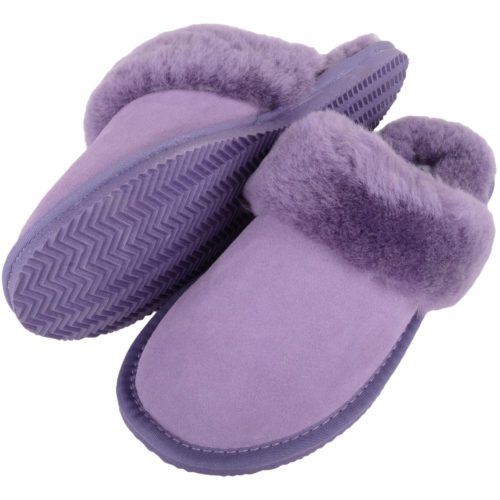 Snugrugs - Ladies Sheepskin Mule Slippers - Lilac
