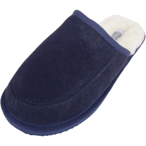 Snugrugs - Mens Wool Lined Mule Slippers - Navy