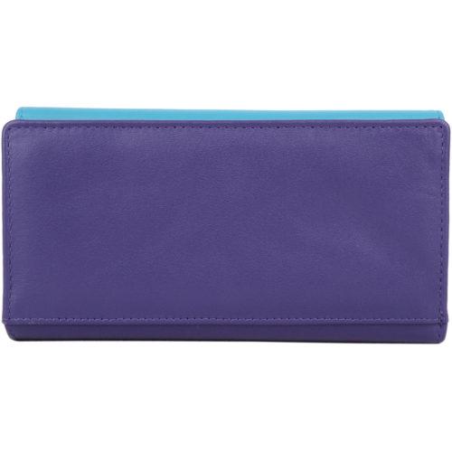 Soft Leather Bi-Fold Purse with Bow Design - Alana