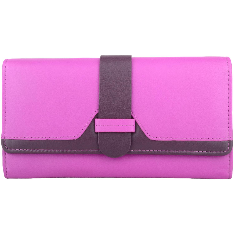 Genuine Soft Leather Bi-Fold Purse - Amber