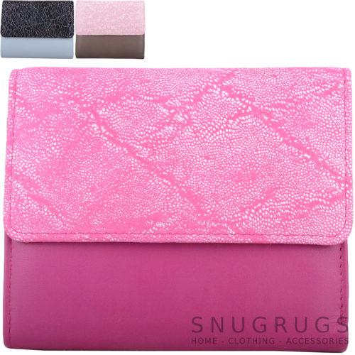 Genuine Soft Leather Bi-Fold Slim Purse - Anais